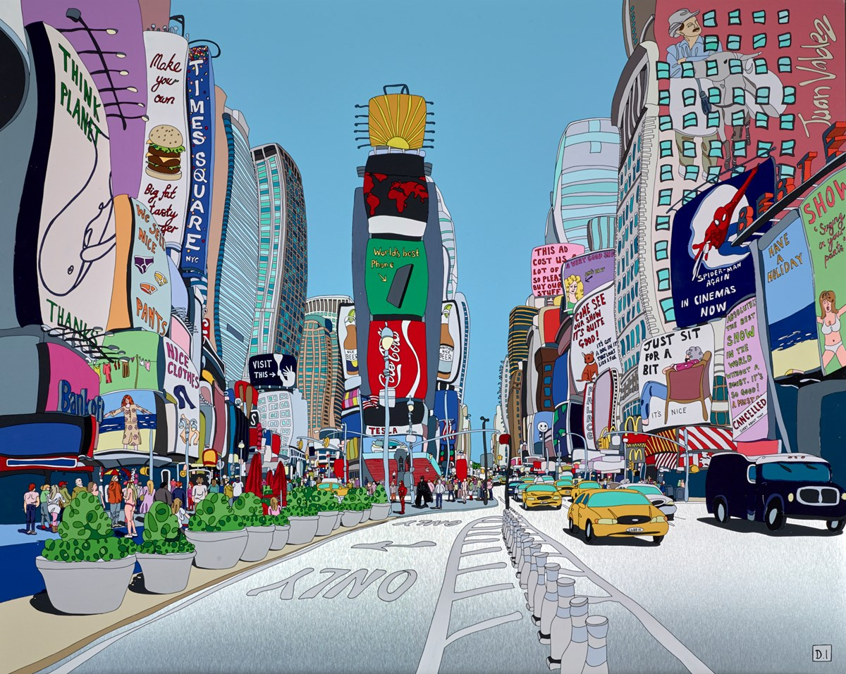 New York - Times Square by dylan izaak -  sized 50x40 inches. Available from Whitewall Galleries